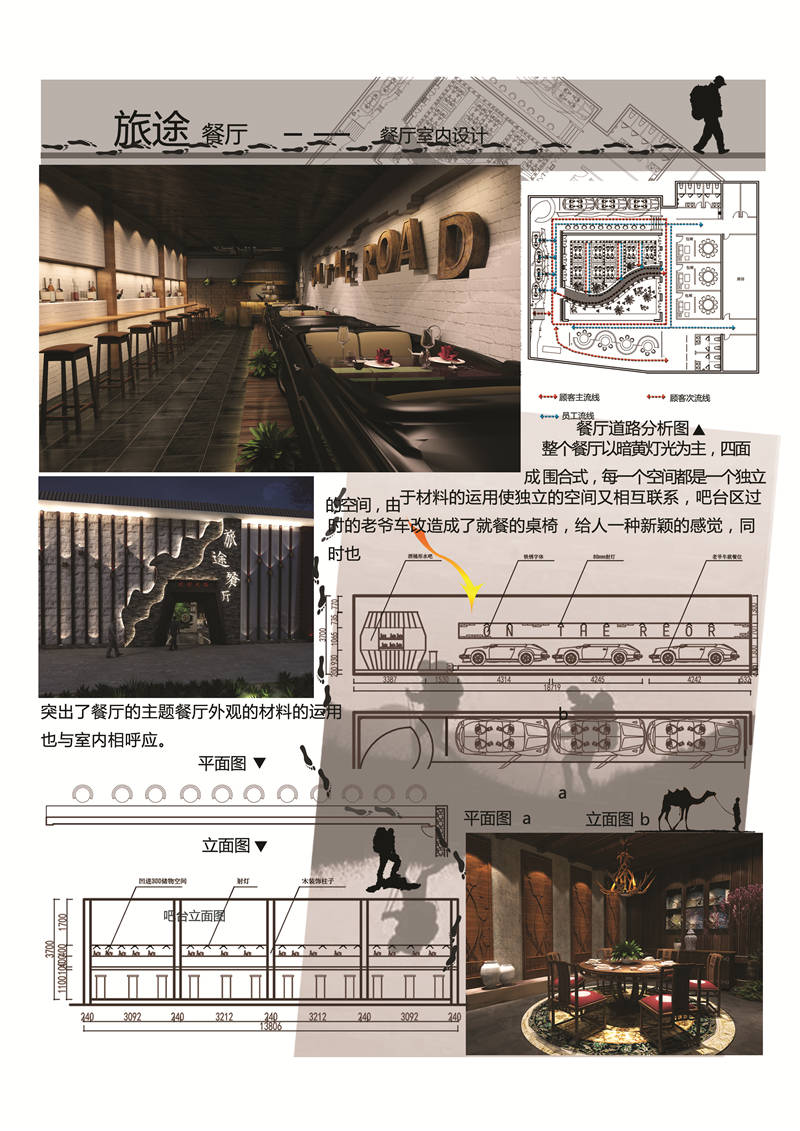 """《室内设计·""""旅途""""主题餐厅》东平"""