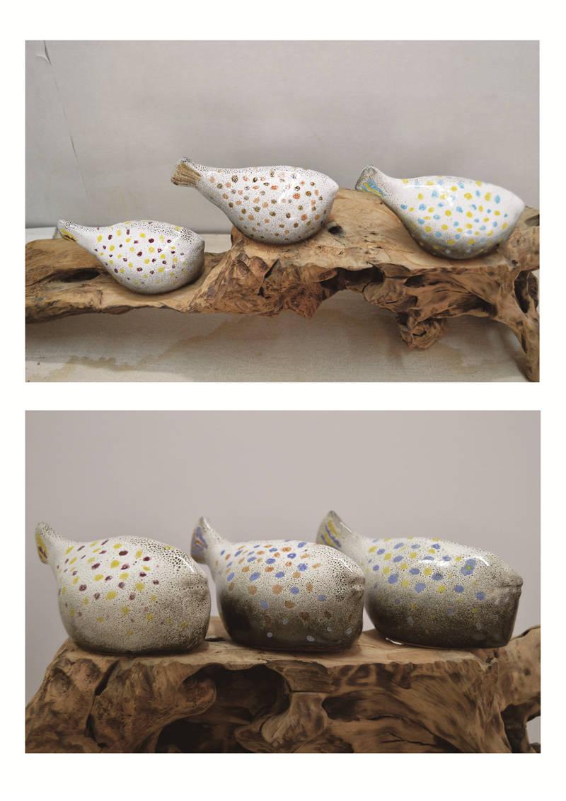 《陶瓷·河豚》李伟