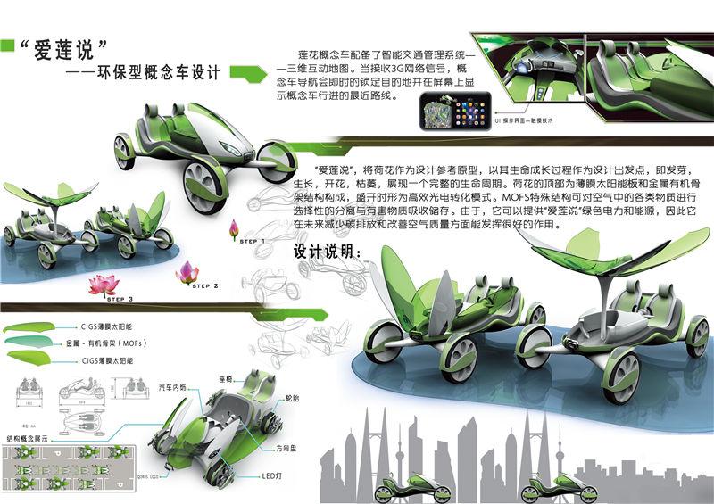 """学生组D类-""""爱莲说""""环保概念车设计-王洪超-齐鲁工业"""