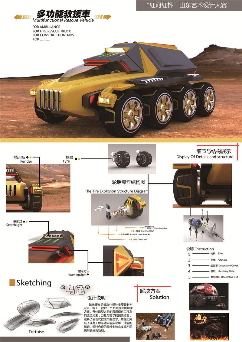 D类-多功能救援车概念设计-孟强-齐鲁工业大学