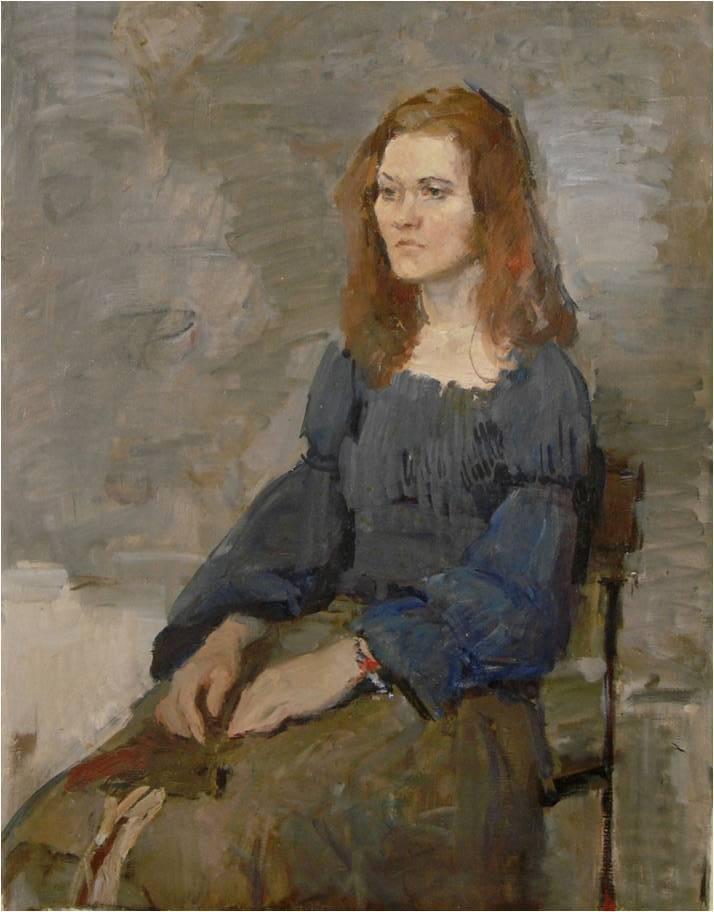 女人半身像  布面油画 78x58 2007